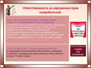 Административная ответственность за нарушение закона о защите прав потребителей