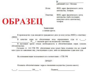 Как написать заявление в суд о запрете на регистрационные действия