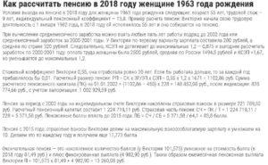 Как считается пенсия год рождения 1965 женщина