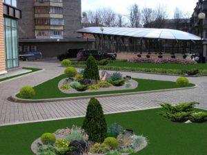Благоустройство и озеленение придомовых территорий введение