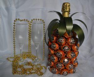 Как украсить бутылку шампанского на день рождения мужчине
