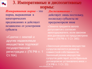 Диспозитианые нормы примеры из конституции рф