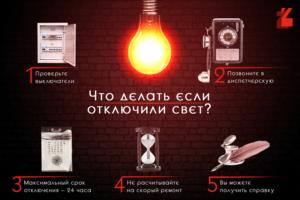 Куда звонить если отключили свет в подмосковье