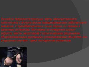 3 криминологическая характеристика терроризма