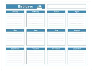 График дней рождений сотрудников электронномскачать