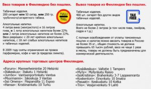 Сколько алкоголя можно ввозить в финляндию из россии 2020