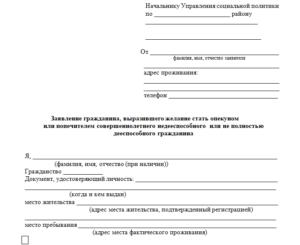 Как оформить опекунство над инвалидом 2 группы в беларуси документы