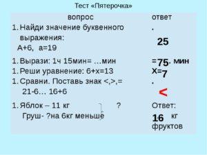 Ответы к тестам пятерочке здм