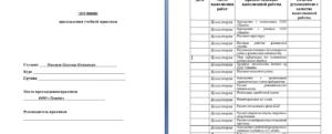 Дневник производственной практики образец заполнения юриста в полиции