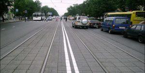 Сплошная линия на трамвайных путях пдд