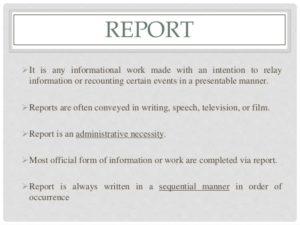 Как написать репорт на английском