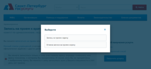 Отмена записи к врачу через интернет в спб горздрав