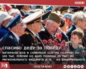 Льготы ветеранам войны статья 20 северная осетия