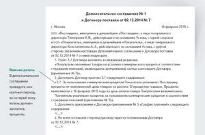 Доп соглашение к договору поставки об отсрочке платежа образец