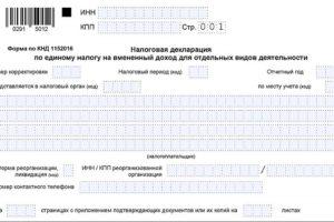 Заполнить декларацию енвд онлайн на сайте 0291 5012