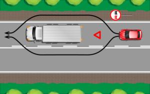 Как правильно объехать препятствие на двухполосной дороге со сплошной разметкой