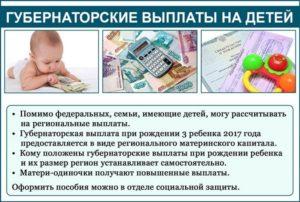 Губернаторская выплата при рождении 1 ребенка волгоград условия