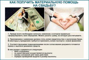 Какие можно получить выплаты при заключении брака