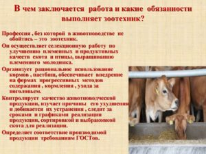 Животновод должностные обязанности